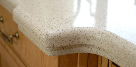 Detail of stone countertop