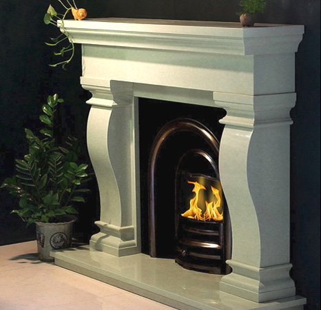 Image of Van Gogh Stone Fireplace